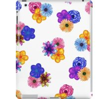 Pretty Girly Watercolor Flowers on White iPad Case/Skin