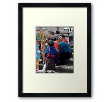 Natives in la Plaza Framed Print