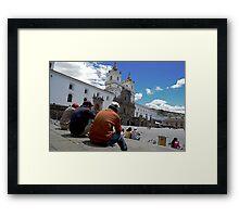 Plaza Buddies Framed Print