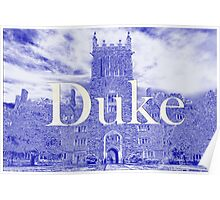 Duke West Campus in Blue Poster