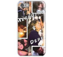 Meredith and Derek Comic Book Theme iPhone Case/Skin