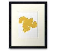 Smash DK Yellow [Tie] Framed Print