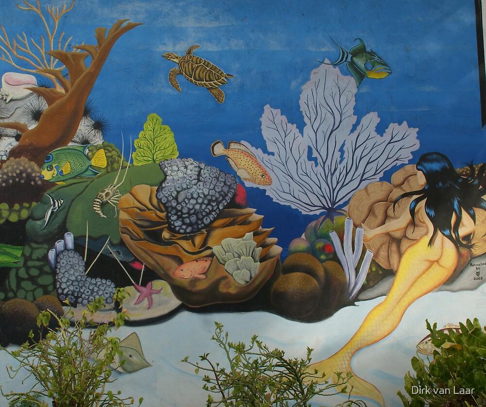 wallpainting kralendijk by Dirk van Laar