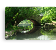 Here, There Be No Trolls-Gapstow Bridge In Summer Canvas Print