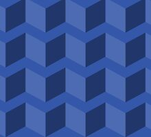 Blue 3D Triangles by TrendingGamer