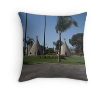 Wig Wam Motel Route 66 Throw Pillow