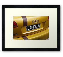 I Want A Barrister, Not A Barista Framed Print