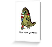 Nom Nom Gnomes, Gnome Eating Monster Greeting Card