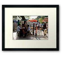 Cops On The Corner Framed Print