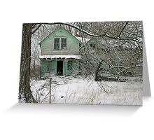 abandoned green house Greeting Card
