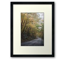 Winding Into Autumn Framed Print