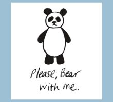 Please bear with me panda Kids Clothes