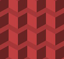 Red 3D Triangles by TrendingGamer