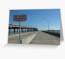 Abandoned Bridge Greeting Card