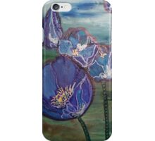 Eclipse Mint Blue & Green Flowers iPhone Case/Skin