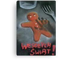 Merry Xmas gingerbread man Canvas Print
