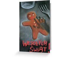 Merry Xmas gingerbread man Greeting Card