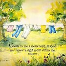 Clothesline Psalm 51 by Janis Lee Colon