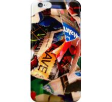 Scraps, Bits, & Pieces iPhone Case/Skin