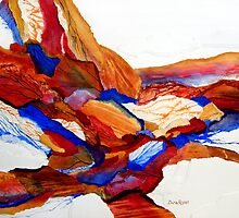 Primary Hues Stonescape by Dana Roper