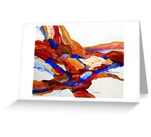 Primary Hues Stonescape Greeting Card