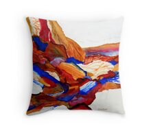 Primary Hues Stonescape Throw Pillow