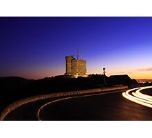 Cabot Tower Sunset Photographic Print