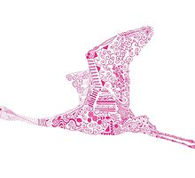 Fuchsia Flamingo by SuburbanBirdDesigns By Kanika Mathur