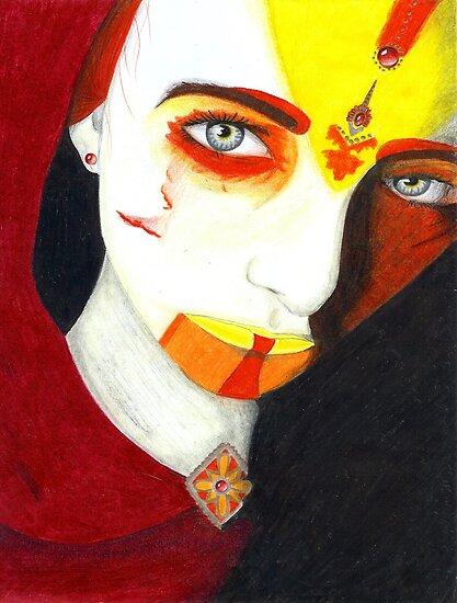 Tribal I - Warrior by Lynsye Medalia
