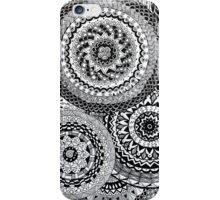 Overlapping black mandalas iPhone Case/Skin