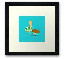 Angry Goomba, Cheery Koopa Framed Print