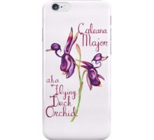 Flying Duck Orchid (Wild Orchid Series I) iPhone Case/Skin