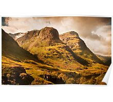 Three Sisters. Glencoe. Scotland Poster