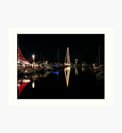 Habor Lights Art Print
