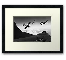The Final Mission (Monochrome Version) Framed Print