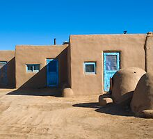 Taos Pueblo - Taos, New Mexico by Bob  Perkoski