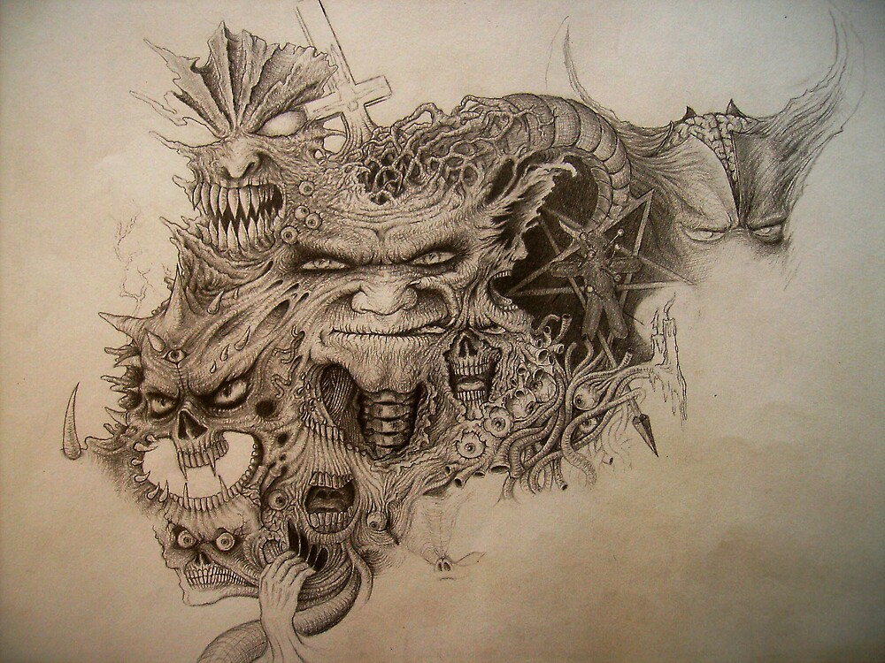 Inner Demons #4 - work in progress 03 by Cyeclops