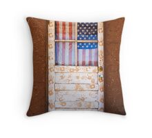 Pueblo Door - Taos, New Mexico Throw Pillow