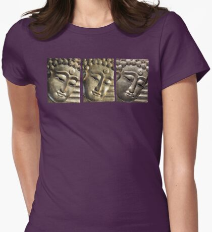 three Buddha images Womens Fitted T-Shirt