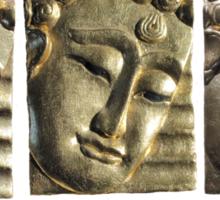 three Buddha images Sticker