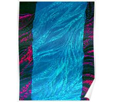 abstract dragon blue Poster