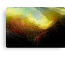 gorge .... approaching storm  Canvas Print