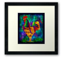 Colourful Rooster 1 Framed Print
