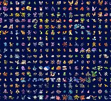pokemon all pokemon anime laptop skin by JordanReaps