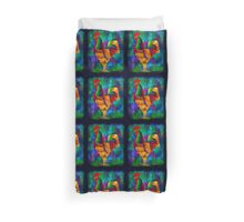 Colourful Rooster 1 Duvet Cover