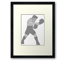 Smash WireMacLightGrey Framed Print