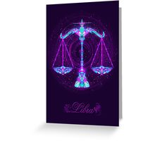 Libra Zodiac Lightburst - (Card) Greeting Card