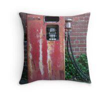 old petrol pump Melbourne Throw Pillow