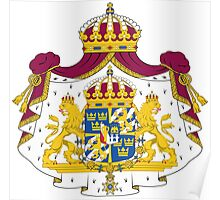 Greater Coat of Arms of Sweden  Poster