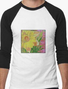 Daffodil Men's Baseball ¾ T-Shirt